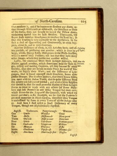 Lawson, A New Voyage (1709), page 225